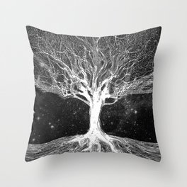 Starry Night Tree of Life Throw Pillow