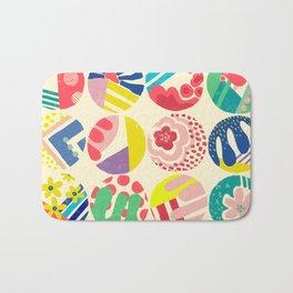Abstract circle fun pattern Bath Mat