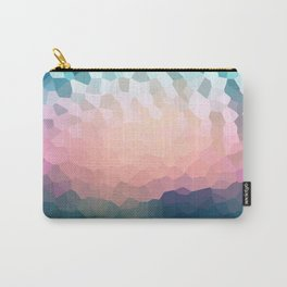 Abstract blue - pink background . Carry-All Pouch
