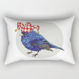 Arlecchino Blue Bird by Kateryna Veshtak Rectangular Pillow