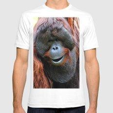 Orangutan Mens Fitted Tee White SMALL