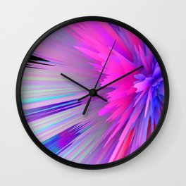 iDeal - Pink Explosion Wall Clock