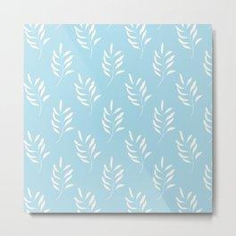 PASTEL BLUE FLORAL Metal Print