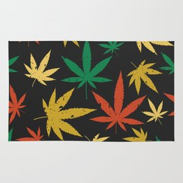Cannabis Leaf Pattern Rug