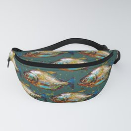 Piranha Army Hand painted Pattern Fanny Pack