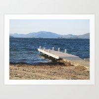 Tranquil Beach Art Print