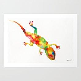 Mr. Lizard 1 Art Print