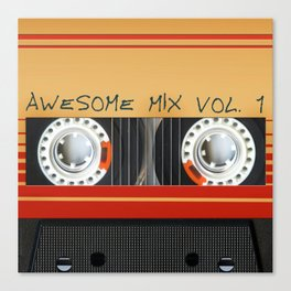 Awesome Mix Cassette Vol.1 Canvas Print