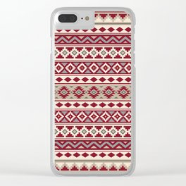 Aztec Essence IIb Ptn Red Crm Grays Sand Clear iPhone Case
