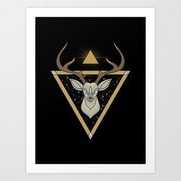 Mystic Deer Art Print