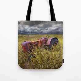 Abandoned Farm Tractor on the Prairie Tote Bag