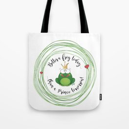 Funny Frog || Better a frog today... || Hen Party || Engagement || Funny gift Tote Bag