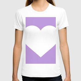 Heart (White & Lavender) T-shirt