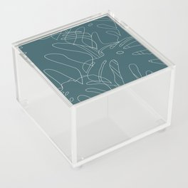 Monstera No2 Teal Acrylic Box