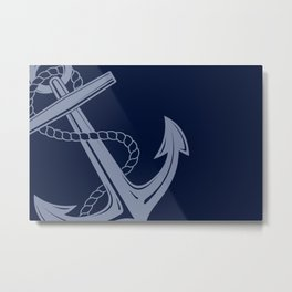 Anchor Nautical 1 Metal Print