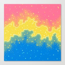 Pan Pride Flag Galaxy Canvas Print