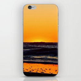 Orange Sunset on the Beach iPhone Skin