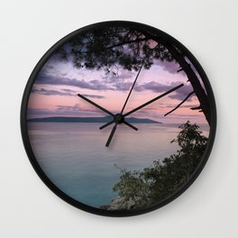 Cres Island, Croatia Wall Clock