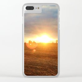 Harvest Sunset Clear iPhone Case