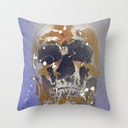 Skull #7 Throw Pillow