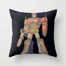 Optimus Black Throw Pillow