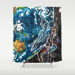 Mother Earth and Father Sky Make Love Shower Curtain