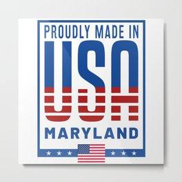 Maryland USA Flag Metal Print