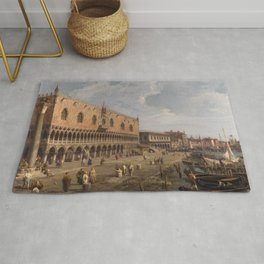 Venice, The Doge's Palace and the Riva degli Schiavoni by Canaletto Rug