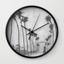 Hollywood Palms Wall Clock
