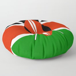 Kenyan flag of Kenya Floor Pillow