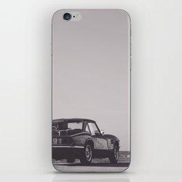 Supercar details, british triumph spitfire, black & white, high quality fine art print, classic car iPhone Skin