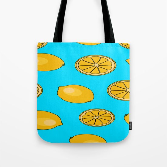 Lemon fruit pattern Tote Bag