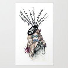 Aphrodite Lady Flora  Art Print