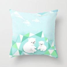 Arctic Den Throw Pillow