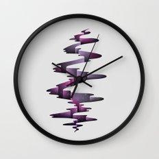 Tectonic Wormhole Wall Clock