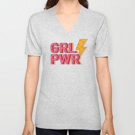 GIRL POWER FEMINIST  Unisex V-Neck