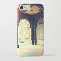 gossip girl iPhone & iPod Cases featuring Bethesda Fountain Gossip Girl by b4lt1m0re