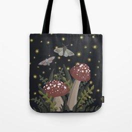 Lil Mushrooms at Dusk Tote Bag