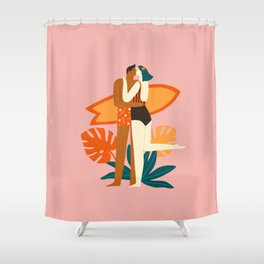 The kiss Shower Curtain