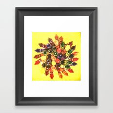 Crayon Love: Crayon Bouquet Framed Art Print