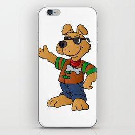 cartoon dog repair man iPhone Skin