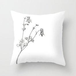 Eastern Red Columbine Throw Pillow