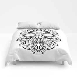 Day of the Dead Skull - Hearts Comforters