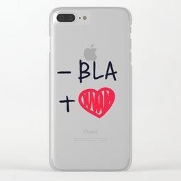love bla Clear iPhone Case