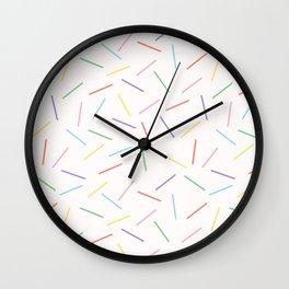 Hand drawn vector tiny confetti sprinkles Wall Clock