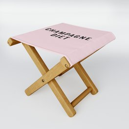 Champagne Diet Funny Quote Folding Stool
