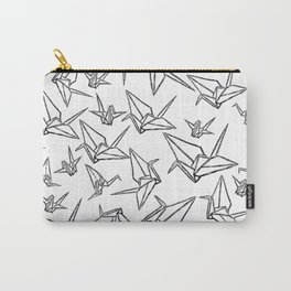Origami Cranes Linocut Carry-All Pouch
