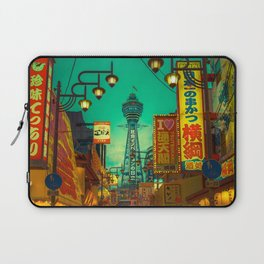Osaka Nights - Shinsekai, New World / Liam Wong Laptop Sleeve