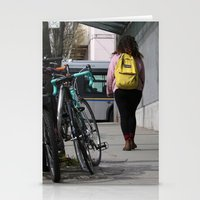 backpack Stationery Cards featuring Bikes and backpack by RMK Photography