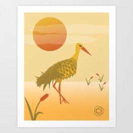 Pineapple Crane Art Print